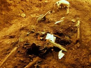 Regilaulud kirjeldavad surnute elu teispoolsuses, mida enamasti nimetatakse Toonelaks. Niisugused lauluread aitavad arheoloogidel hauapanuseid tõlgendada. Näiteks teevad vanemad Toonelas talutöid ja seetõttu võidigi surnutele tööriistu hauda kaasa panna. Foto: Pikne Kama