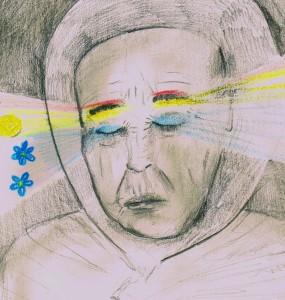 Regilauludes on levinud kirjeldus, et surnud ema silmade peale on kasvanud sinililled või sinine mets ja kulmude peale punane kulu või kullerkupud. Loomulikult ei saa arheoloogid neid motiive otseselt haudadest otsida, kuid kaudselt on need kujundid koos oma tähendusega olnud osa nende inimeste maailmapildist, kelle haudu arheoloogid uurivad