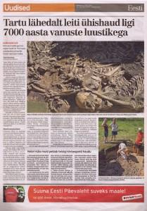 7000 aastat vana ühishaud kümnele hiiglasekasvu mehele. Allikas: Eesti Päevaleht, 14. juuli 2010