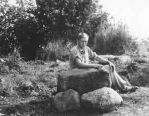 Arheoloog Lembit Jaanits 1954.a. Valma kaevamistel. Foto: AI FK 11012