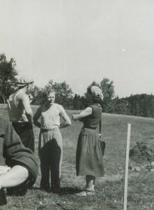 Lembit Jaanits Lõhavere kaevamistel 1957. a. Foto: FK 11018